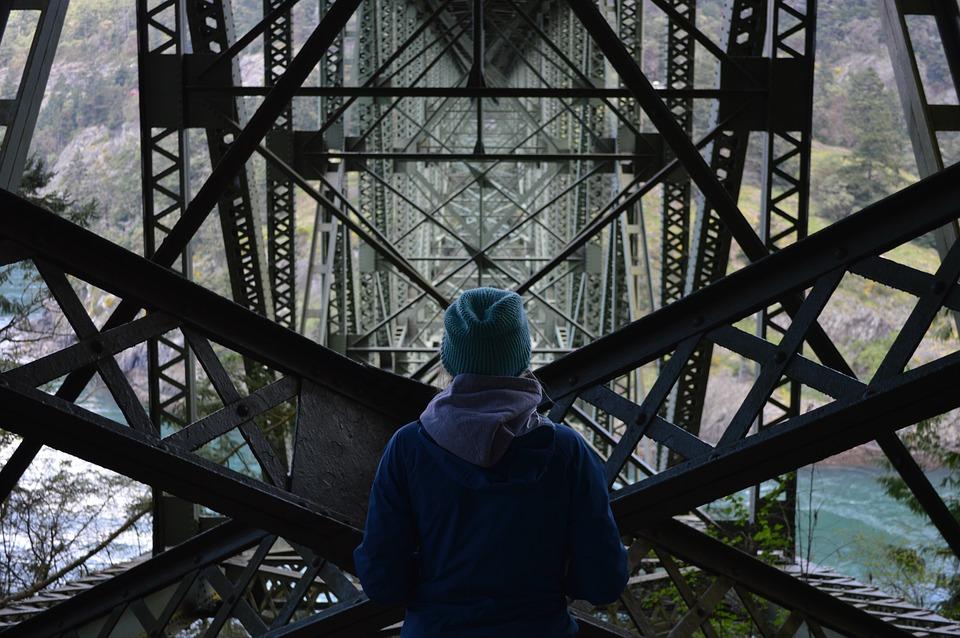worker on bridge