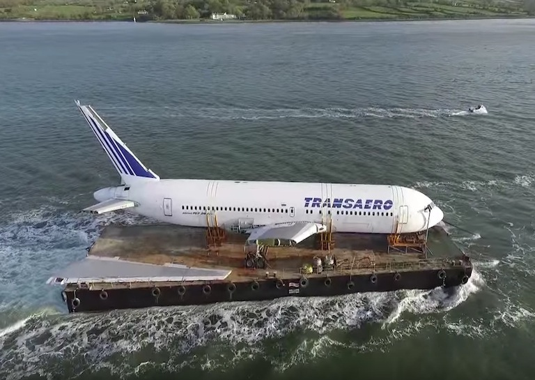 BOEING 767 sets sail