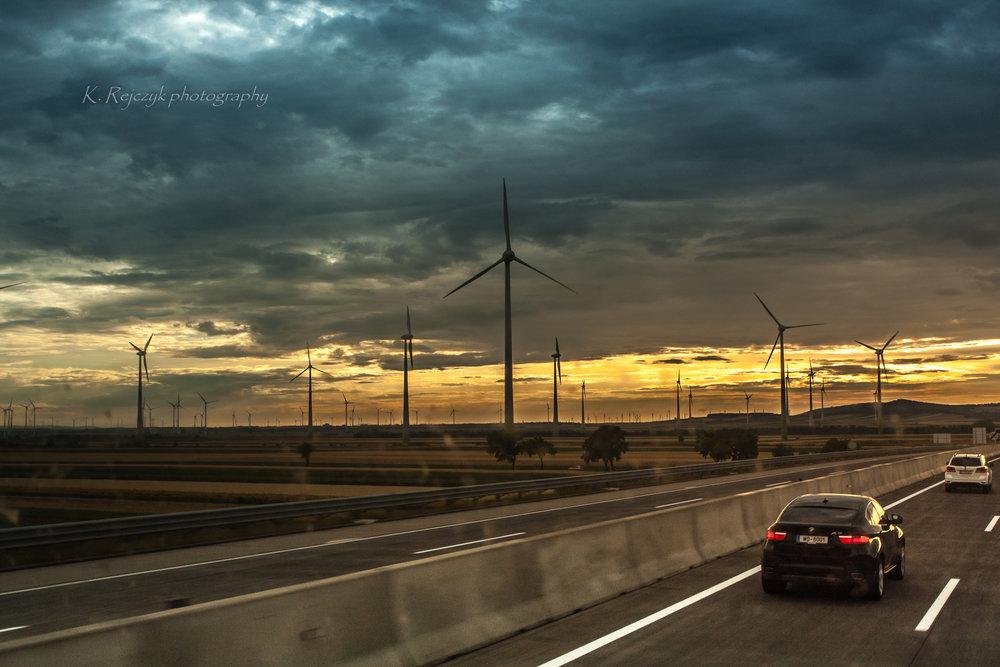 Prellenkirchen wind farm Austria by Kamil Rejczyk