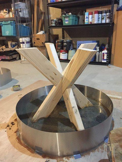 build concrete table