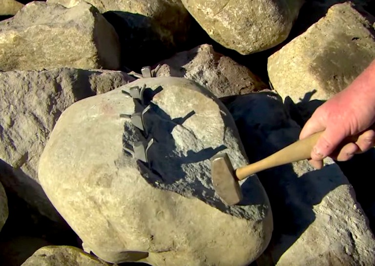 cutting stones by hand