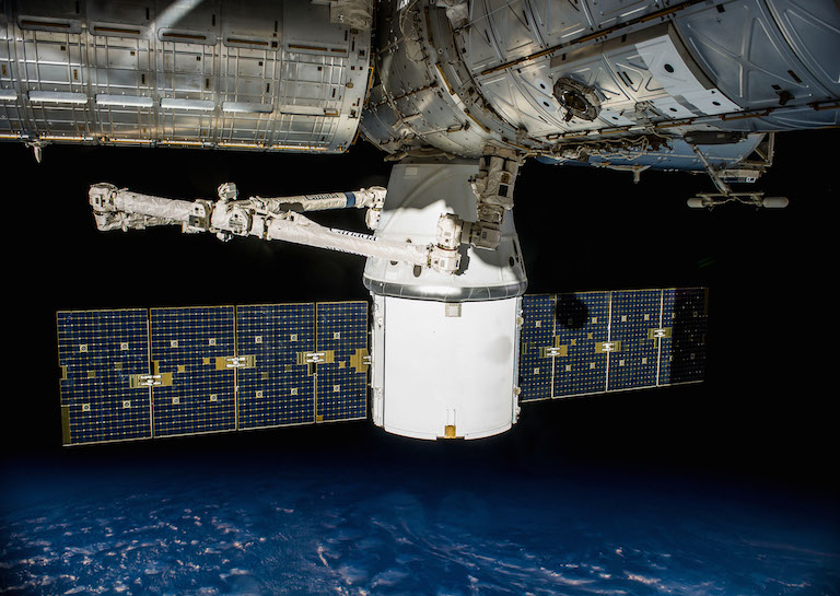 docked with iss