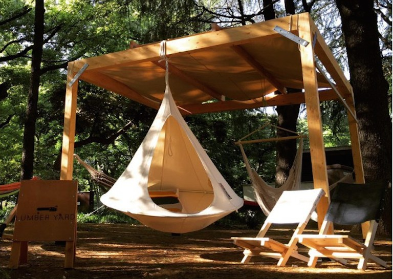 hanging tent porch