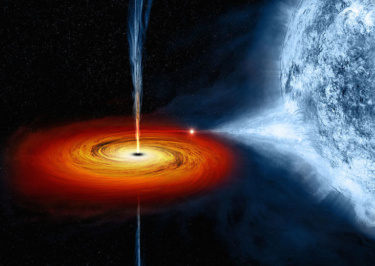 how a black hole created