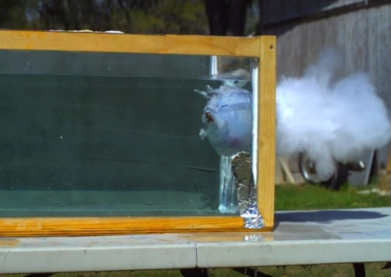 Shooting Liquid Metal Bullets Into Water At High Speed