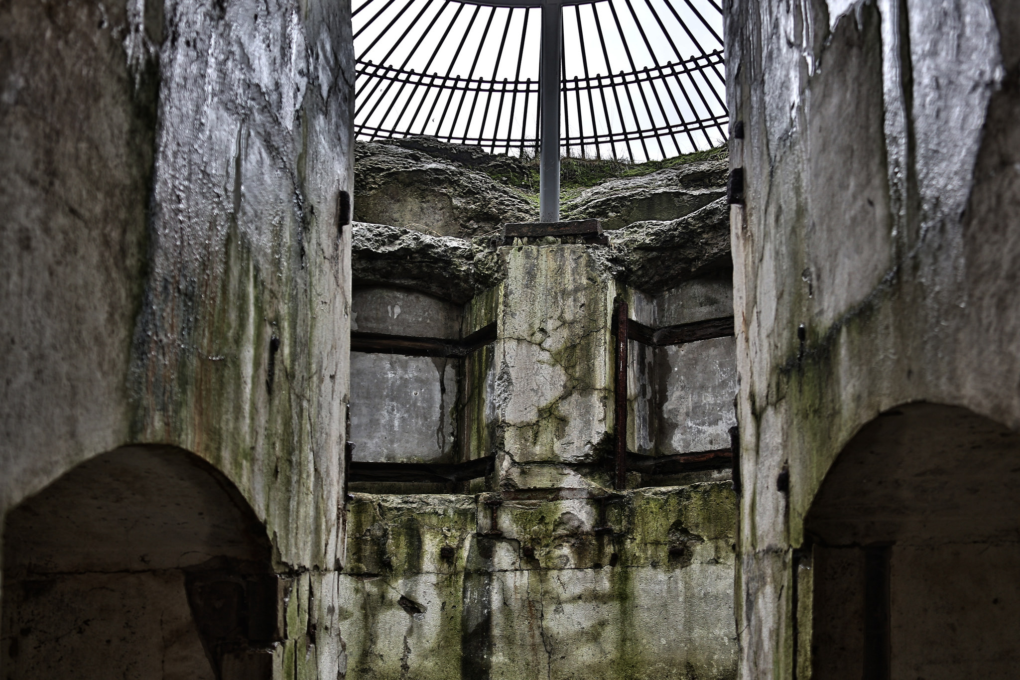 inside abandoned fort