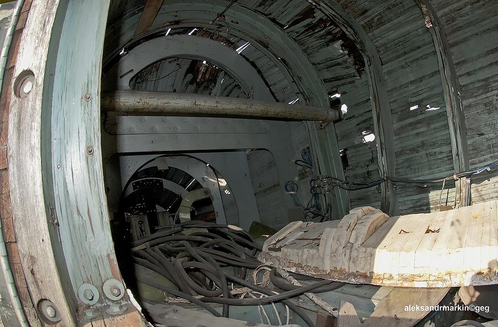 inside abandoned shuttle