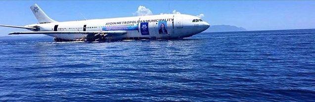 sinking plane shot