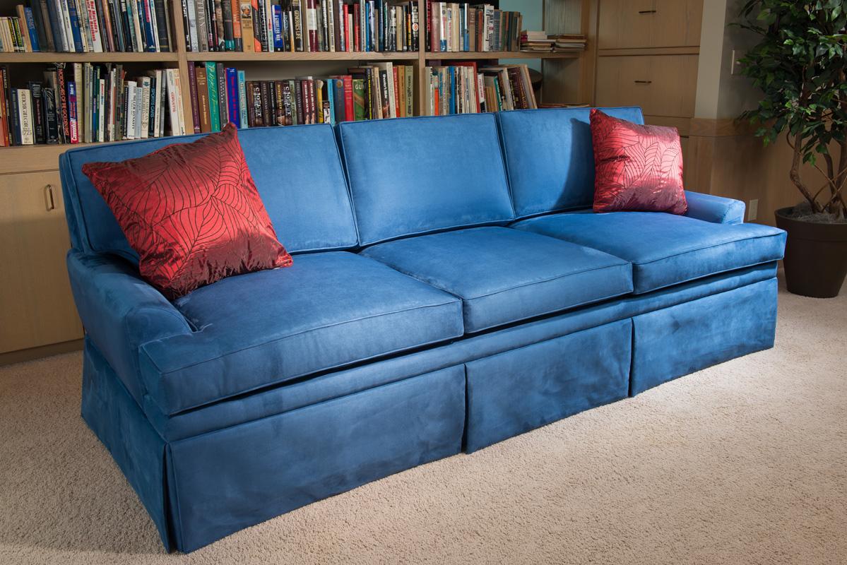 blue couch gun