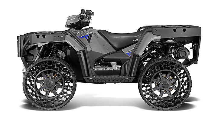 gray military ATV