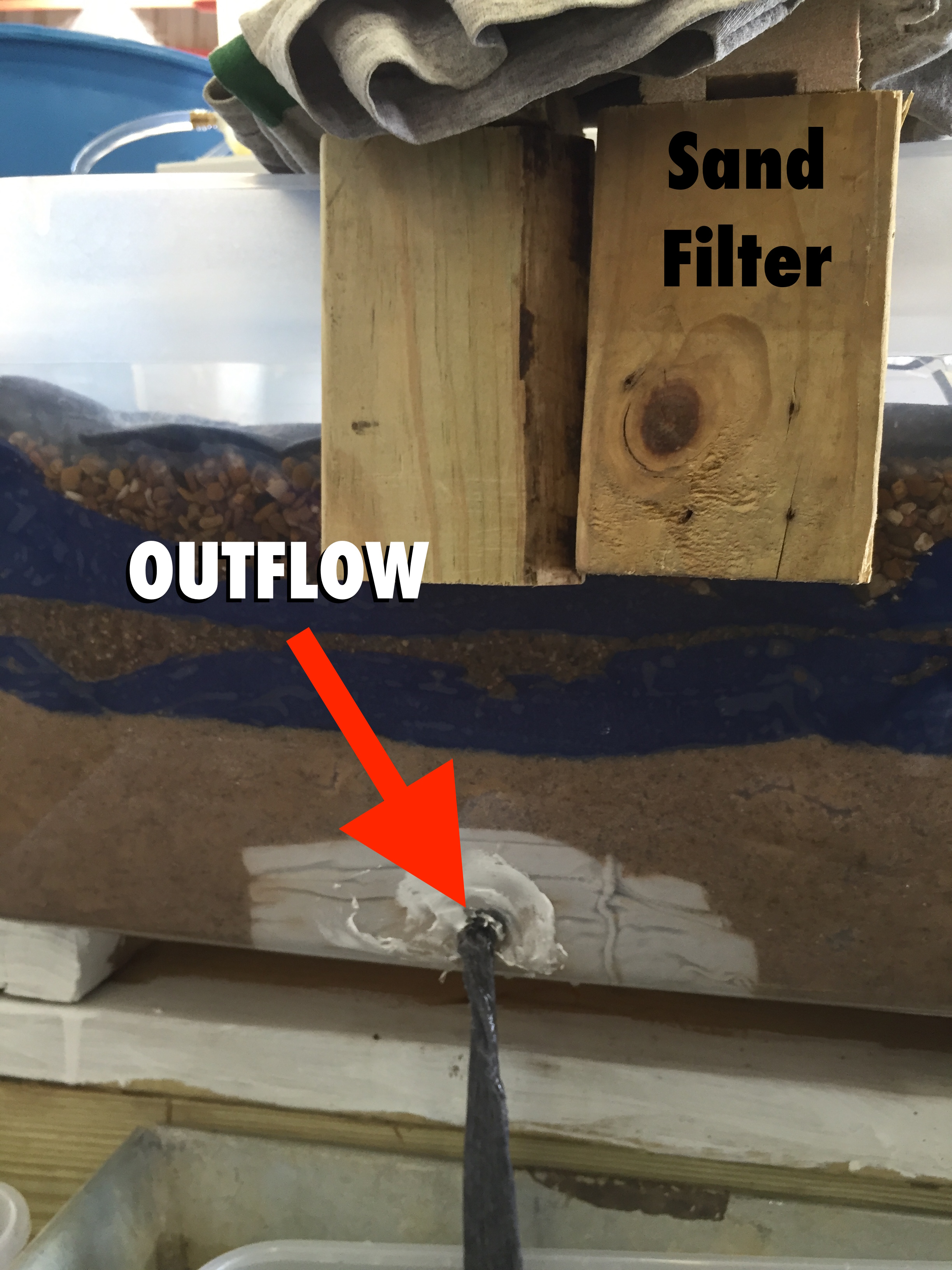 sand filter outflow