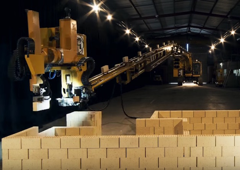 brick laying robot