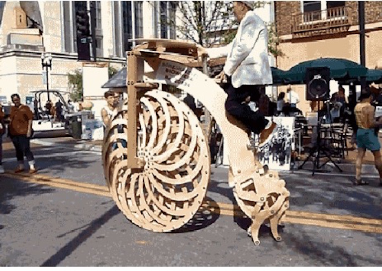 wooden walking bike