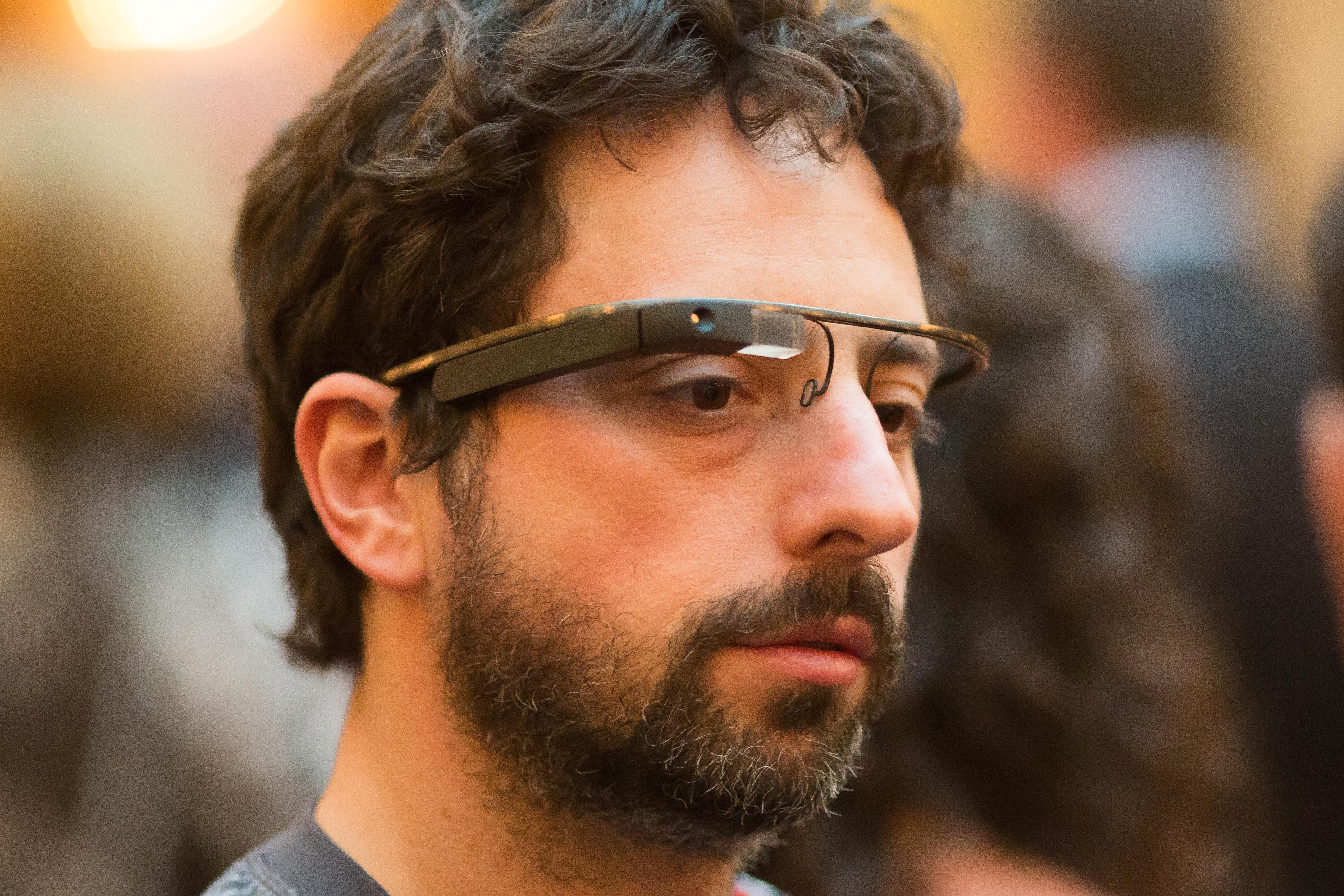Google Co-Founder Sergey Brin Sports the New Google Glasses