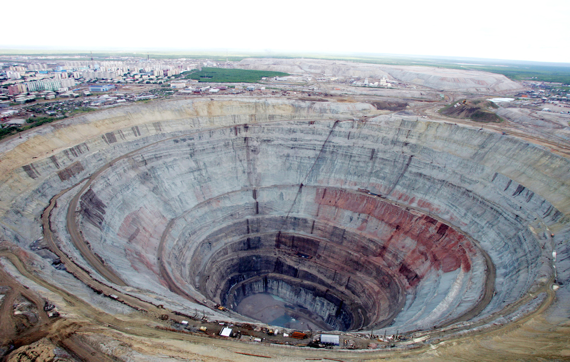Mirny Mine aerial view