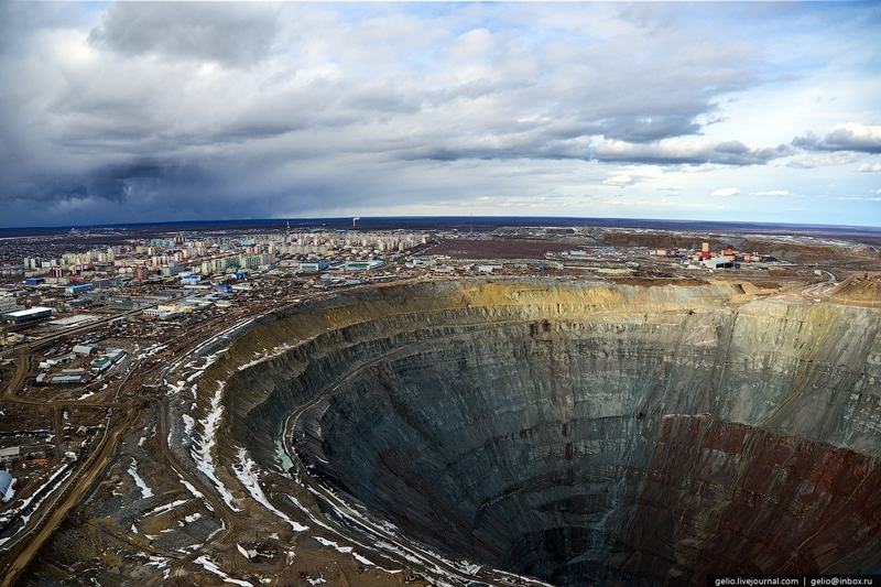 Mirny mine bird's eye