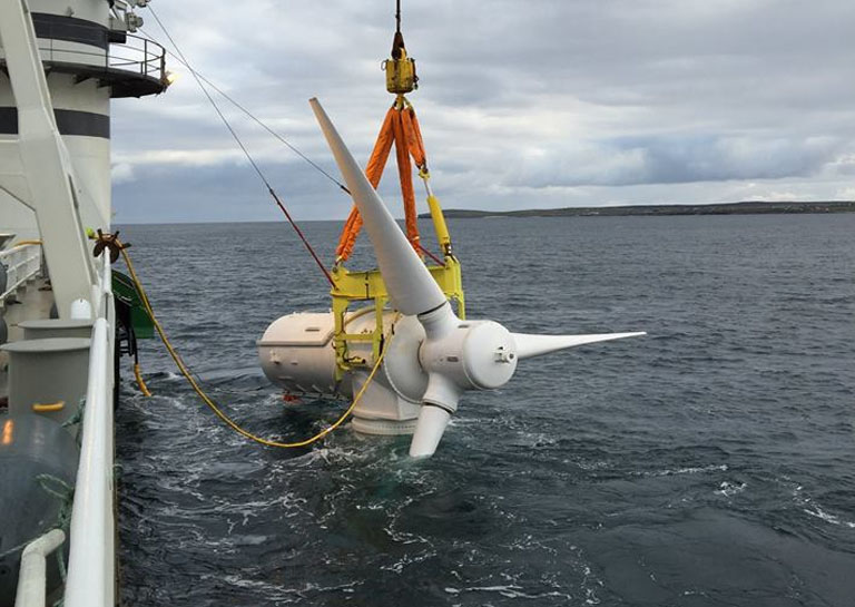 Turning the tide: Scotland's first tidal power generator