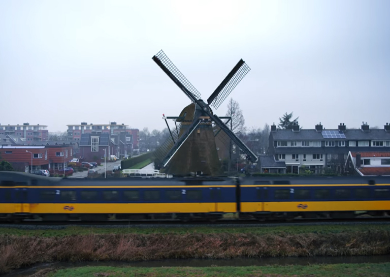 These Dutch Passenger Trains are Now Run with Wind Power
