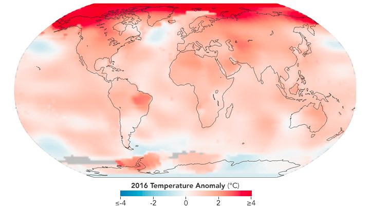 Earth Sets Record Temperature for the Third Year in a Row