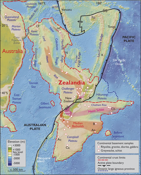 Geologists May Have Discovered a New Continent Called 'Zealandia'