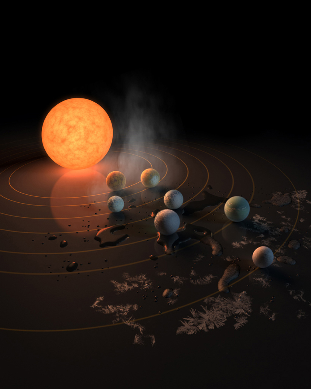 NASA Reveals Their Discovery of Seven Exoplanets Around Dwarf Star