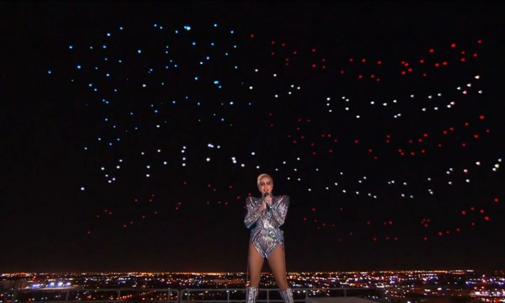 Drone Show Steals Spotlight in Lady Gaga's Super Bowl Performance