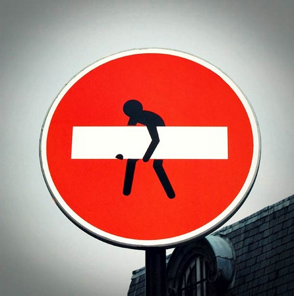 A French Street Artist Gives These Road Signs a Quirky Makeover