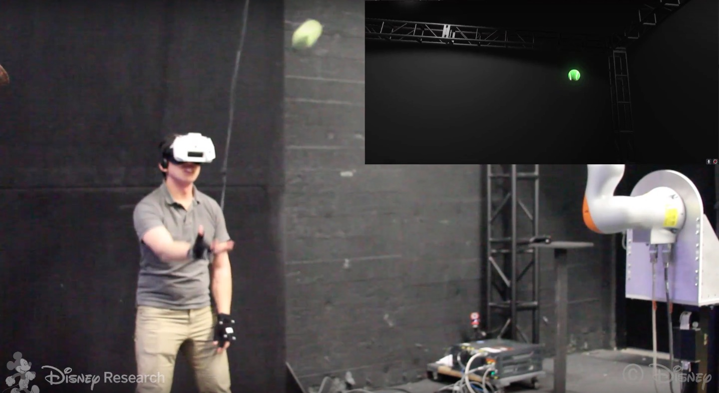 New Disney Experiment Lets Users Catch Real Balls While in VR