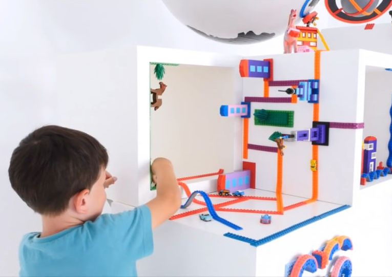 This Tape Turns Any Surface into the Perfect LEGO Building Space