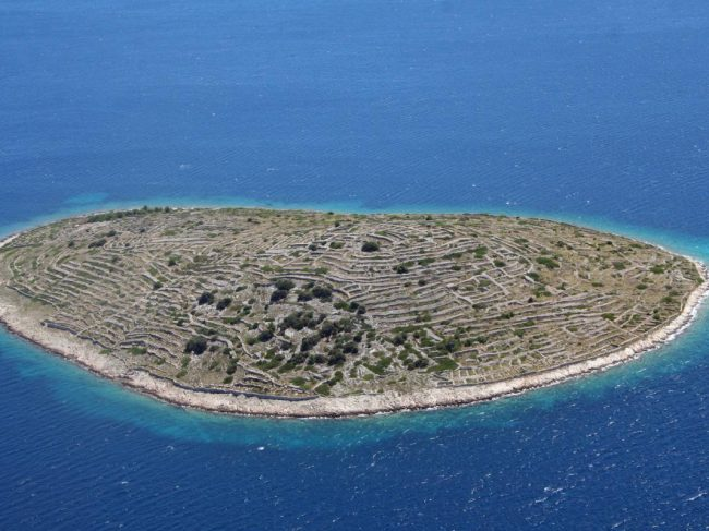 This Tiny Croatian Island Looks a Lot Like a Massive Fingerprint