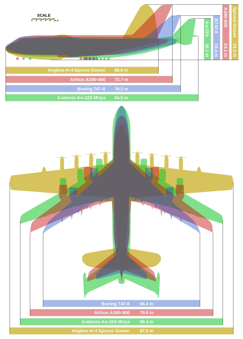 worlds biggest planes comparison