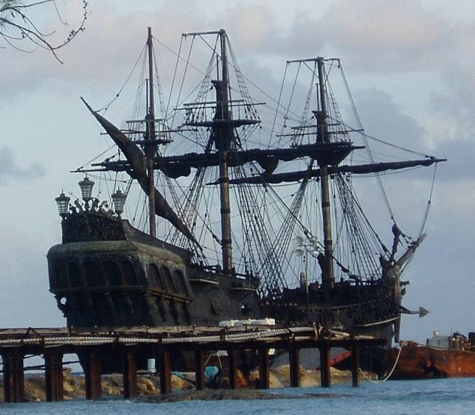 The Black Pearl ship on location