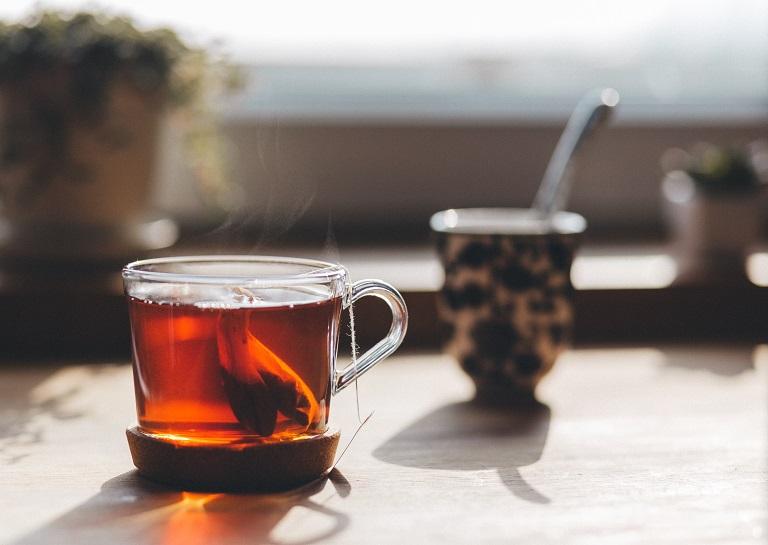 Cup of tea brewing