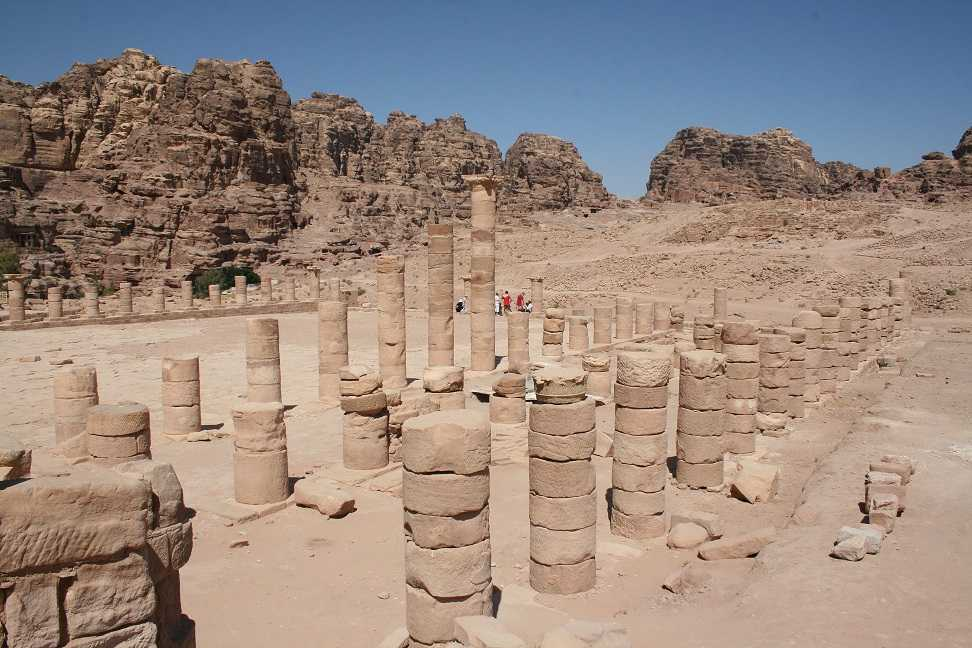 The ruins of the great temple of Petra