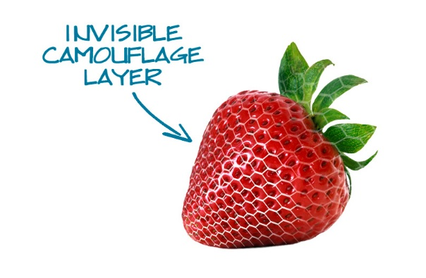 Strawberry with invisipeel technology