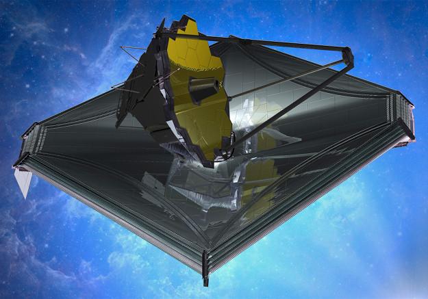 ESA's artist impression of the James Webb Telescope