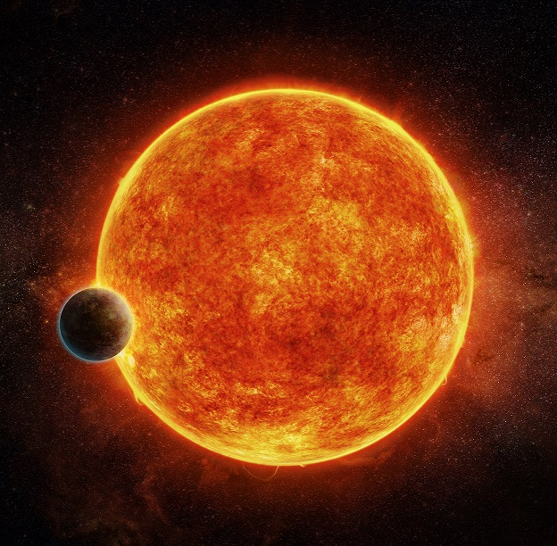 Earth-like exoplanet orbiting around a red dwarf