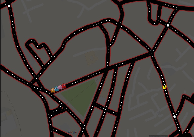 'Map-Eater' Ms.Pac-Man Takes Over Google Maps for April Fools' Day
