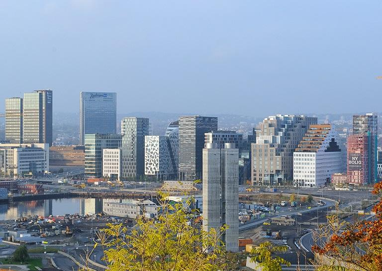 Downtown skyline of Oslo, Norway