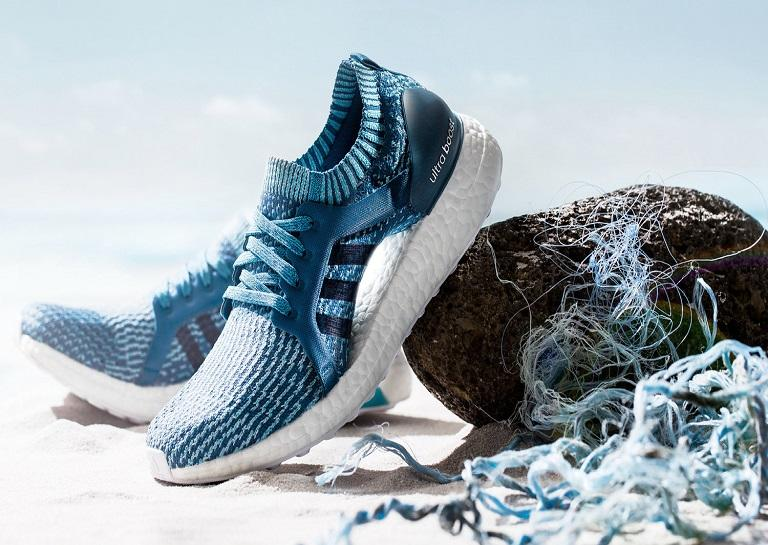 Adidas Parley edition with ocean backdrop