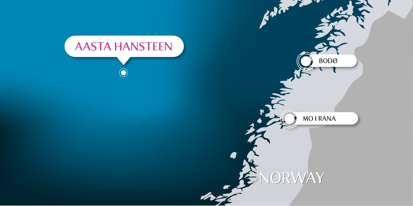 Location of the Aasta Hansteen gas field in the North Sea