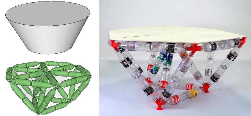 Conversion of a simple structure to a bottle-based truss system