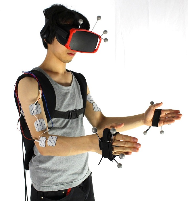 Virtual reality headset also simulates feelings