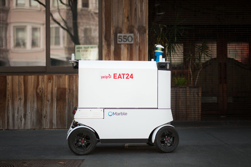 Autonomous Food Delivery Robots Hit the Streets of San Francisco