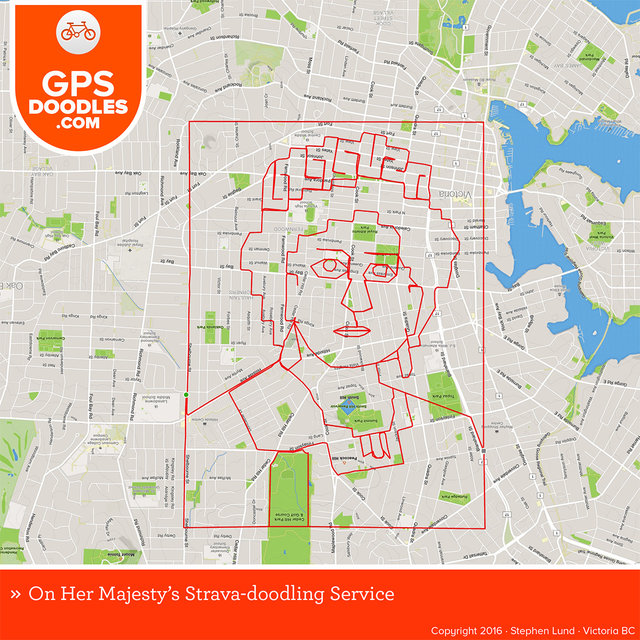 This Cyclist Creates Amazing City-Wide Drawings With His GPS Tracking App
