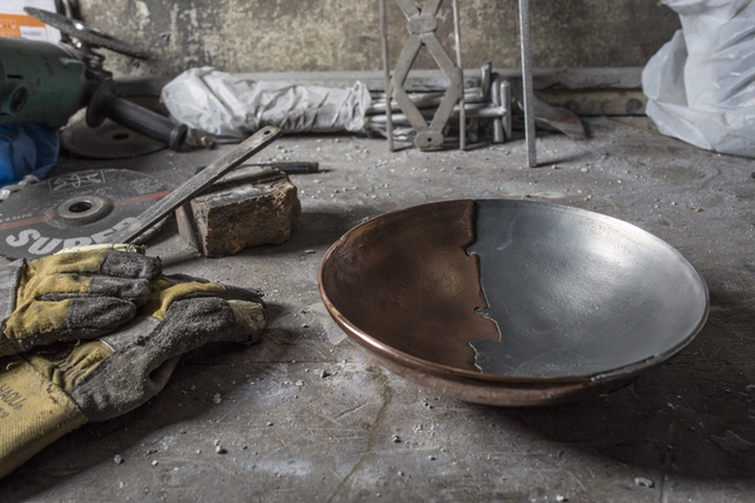 These Incredible Mixed Metal Bowls Revive the Lost Art of Sand-Casting