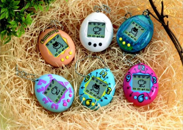 The six original colors of Tamagotchi
