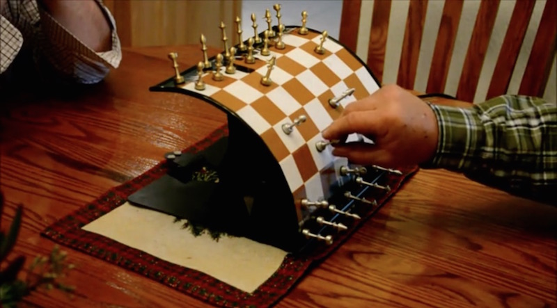 This Cylindrical Magnetic Chess Board Is Next Level Crazy