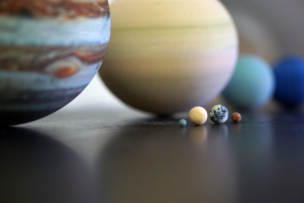 3D printed solar system planets