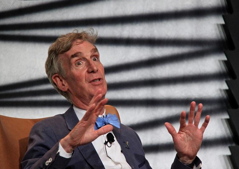 Bill Nye in a tv show